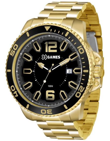 Relógio X-games Original Xmgs1019 P2kx Preto Dourado Nf