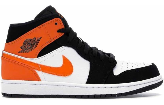 Sneakers Original Jordan 1 Mid Shattered Backboard Naranjas