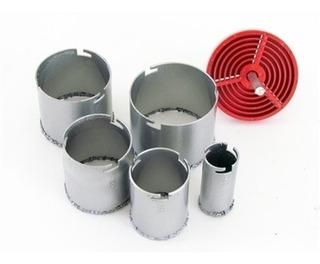 Conjunto Serra Copo De Tungstenio Diamantado 6 Peças Ceramica Alvenaria Profissional