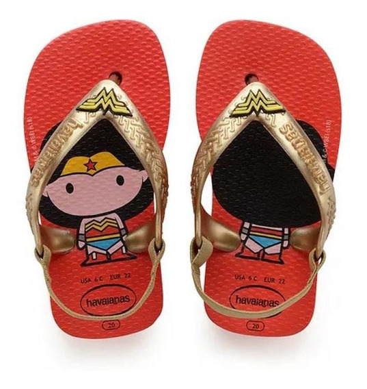 Havaiana Sandalias Kids - Baby Hero Wonder Woman