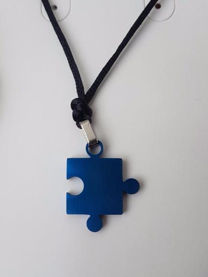 Colar Da Conscientização Do Autismo Colorido Inox