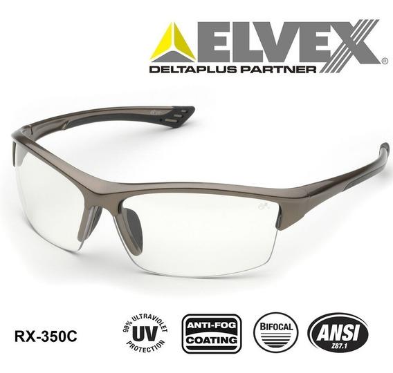 Lentes De Seguridad Elvex Rx-350 Con Aumento Bifocal De +3