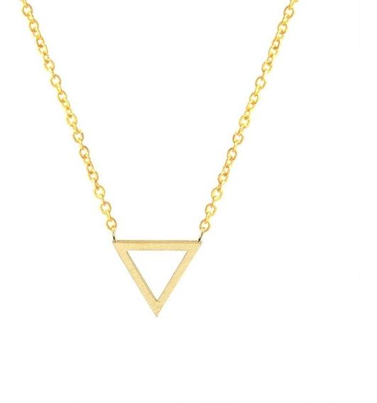 Collar Juvenil Triángulo Trendy Acero Inoxidable 316l