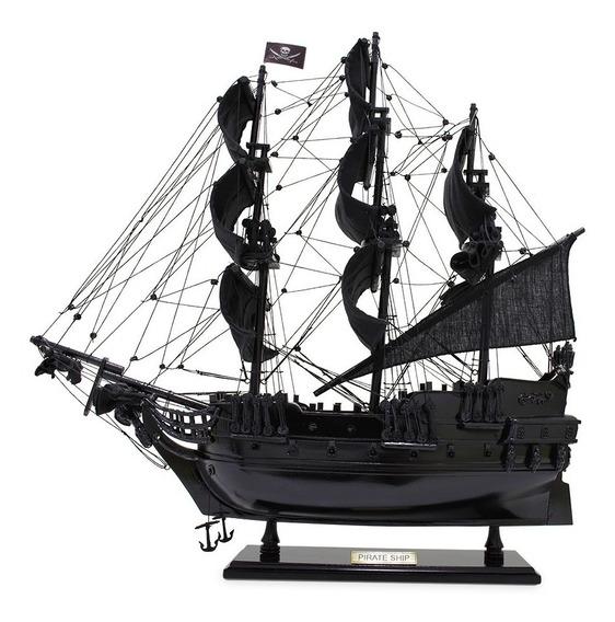 Navio Fragata Pirata Caravela Perola Negra Muitos Detalhes!