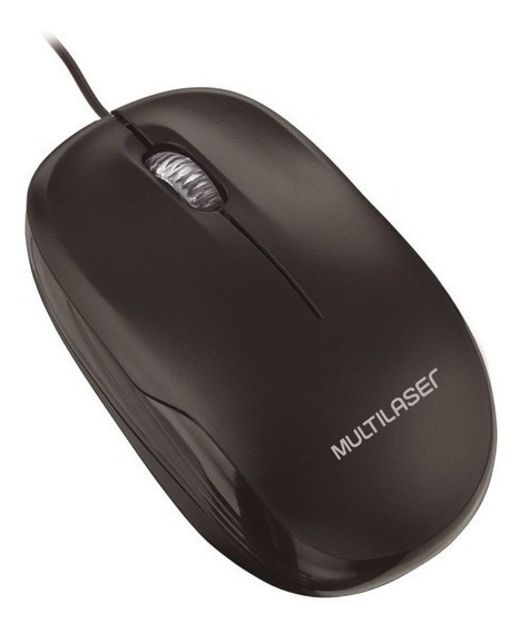 Mouse Óptico Multilaser Com Fio Mo255 Preto