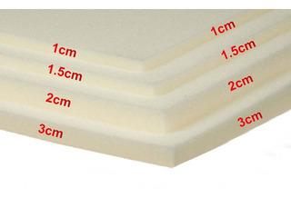 Hoja De Hule Espuma De 2.00x1.20x1cm En 17kg/m3 Color Blanco