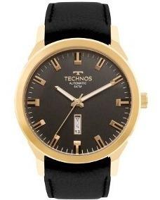 Relógio Technos Automático Couro 8205og/2p +frete Gratis