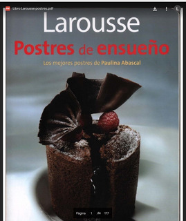 Libro Laurosse Postres De Ensueño Paulina Abascal Pdf Dulce