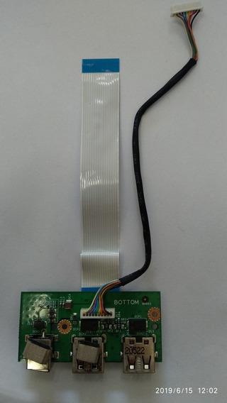 Placa Filha Usb E Power Para Notebook Microboard Iron I5xx