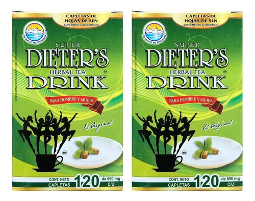 Imagen 1 de 5 de (2 Piezas) Dieters Drink (120 Caps) La Salud Es Primero