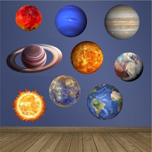Imagem 1 de 2 de Adesivos Decorativos Planetas Sistema Solar - 130 X 93 Cm