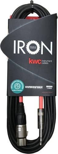 Imagen 1 de 2 de Cable Xlr-plug Estéreo Kwc Iron 252r De 6 Metros