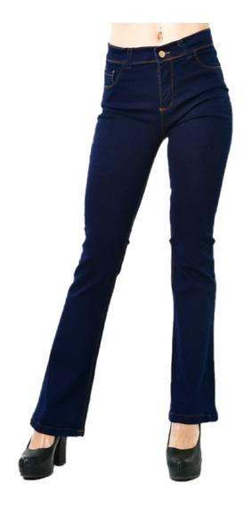 Pantalón Jean Mujer Oxford Elastizados Tiro Alto