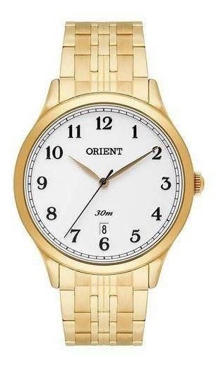 Relógio Orient Masculino Dourado Mgss1139 B2kx