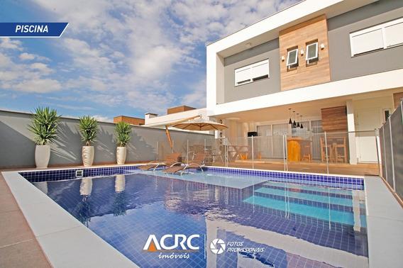 Acrc Imóveis - Casa Residencial De Alto Padrão Para Venda Em Condomínio Fechado, 100% Mobiliada - Ca01252 - 34786876