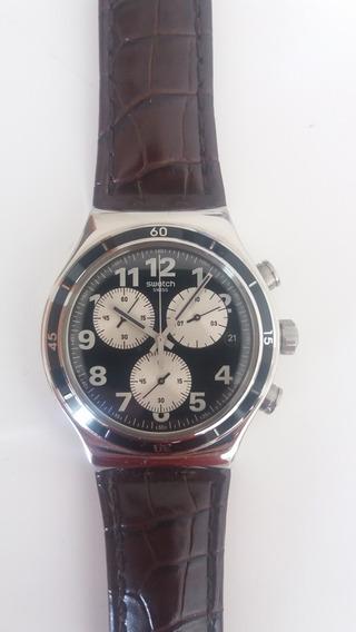 Relógio Swatch Modelo Browned (yvs400) Estado De Novo!