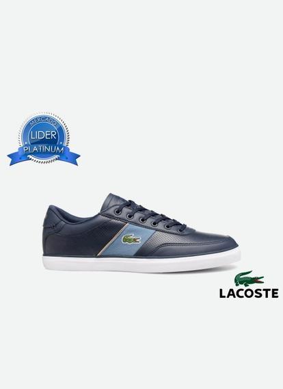 Zapatillas Lacoste Court Master 318 Blanco 042, Azul Nv1