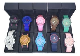 Kit Relógios Atacado Silicone 10 Pcs Barato Oferta