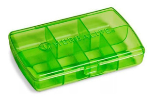 Tableteira Pq. 7 Repartições Herbalife 1,5 X 6 X 9cm