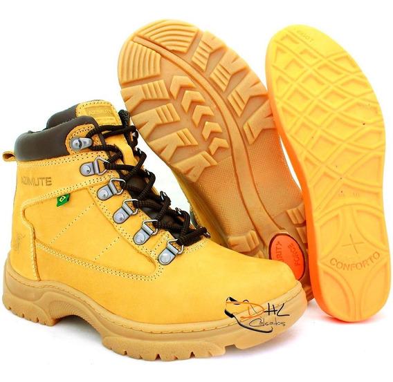 Sapato Coturno Bota Masc Casual Adventure Hip Hop Amarela