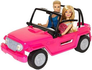 Barbie Auto De Playa Jeep Barbie Y Ken Incluidos Beach Cruis
