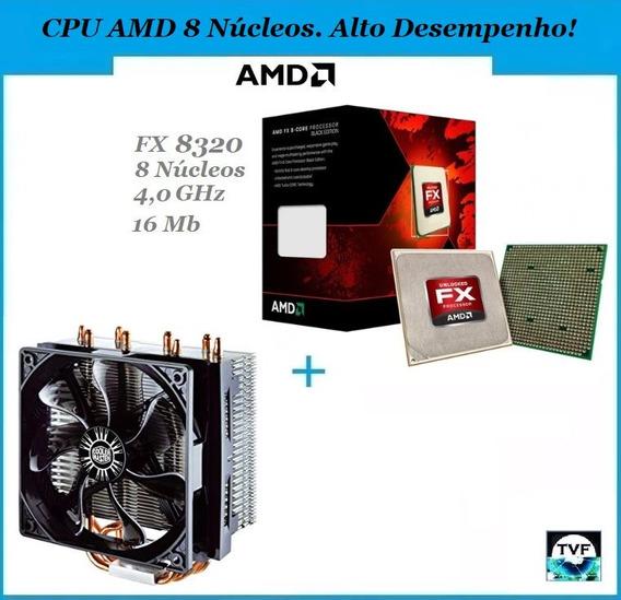 Kit Gamer Processador Amd Fx-8320 + Cooler Master T4