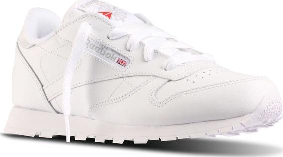 Tenis Reebok Niño Blanco Classic Leather 50172