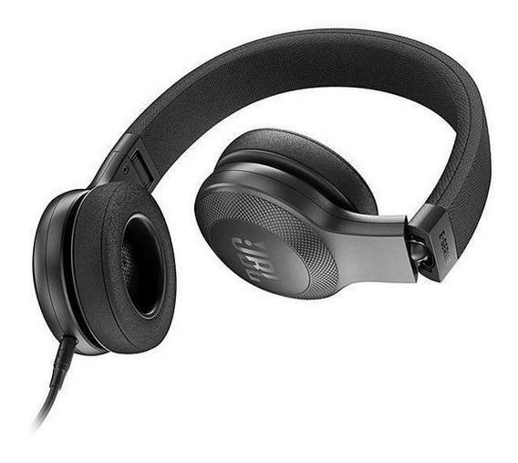 Fone De Ouvido Jbl E35 On Ear Dobrável Bk C/kit Comunicação