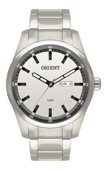 Relógio Masculino Orient Calendário Mbss2012 - Prata