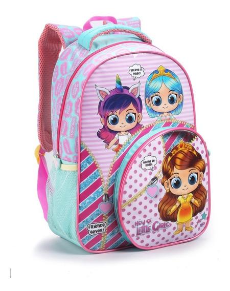 Mochila Costas Tam G Escolar Infantil Surprise Girls Seanite