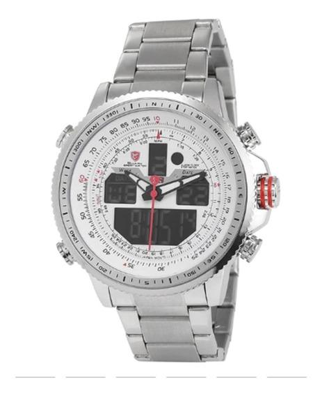 Relógio Shark Sh326n Aço Inox, Dual, Alta Qualidade