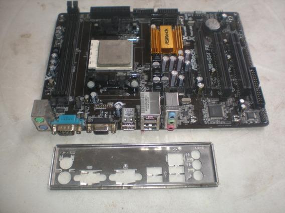 Placa Mãe Amd Asrock N68 Gs4 Fx + Athlon Ii 260 Reparo/peças
