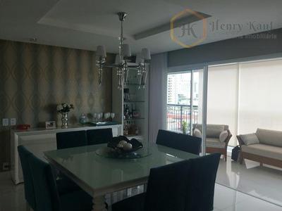 Apartamento Com 172m2 - 3 Suítes - Depósito E 3 Vagas (porteira Fechada), Tatuapé, São Paulo. - Ap1049