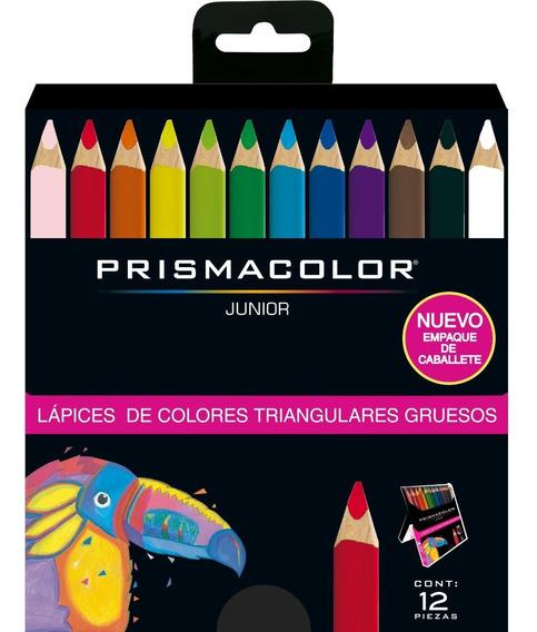 Colores Prismacolor Junior Triangulares Caja X12 Punta 5.4mm