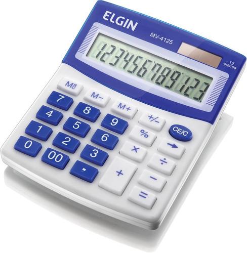 Imagem 1 de 1 de Calculadora De Mesa 12 Dígitos Elgin Mv4125 Original