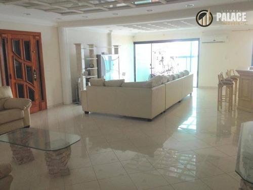 Cobertura Com 5 Dormitórios À Venda, 257 M² Por R$ 2.500.000,00 - Aviação - Praia Grande/sp - Co0019