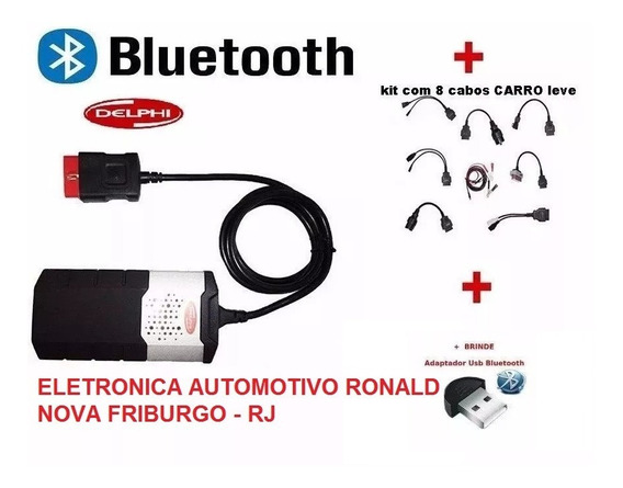 Delphi Scanner 2018 V.2015.3 + Kit 8cabos Leve Carro Maleta