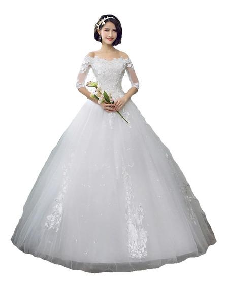 Vestidos De Novia Corte Princesa Mangas Blanco Ivory