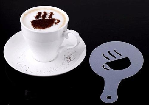 Café Stencil 16 Plantilla Decoración Capuccino Barista Arte