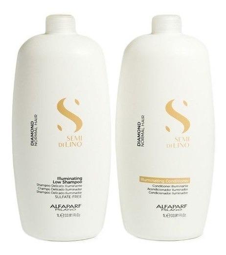 Kit Alfaparf Semi Di Lino Shampoo + Acondicionador X 1000 Ml