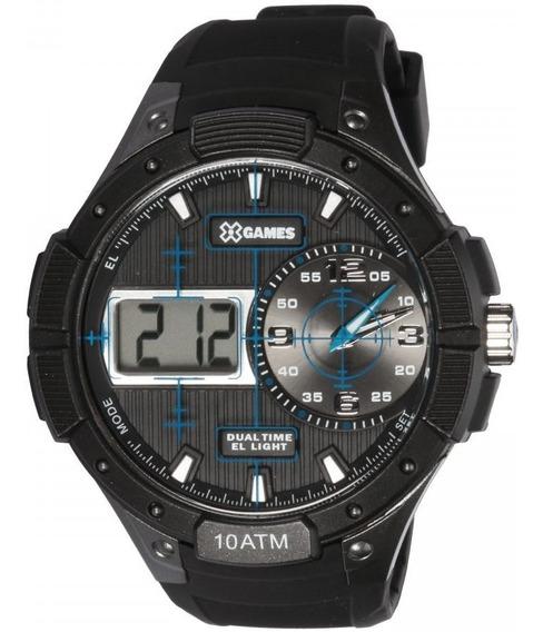Relógio Masculino X-games Xmppa220-bxpx 51mm Borracha Preta