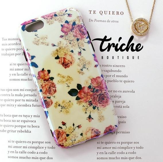 Funda Rosas Vintage Flores iPhone 6 6s 7 8 7+ 8+ X Xs Max Xr