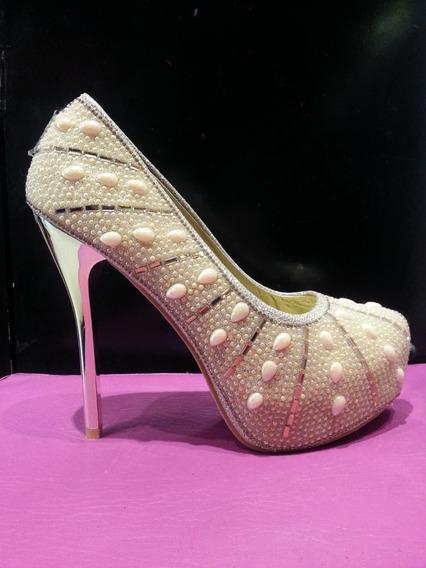 Zapato Dama Fiesta Taco Aguja 15 Cm