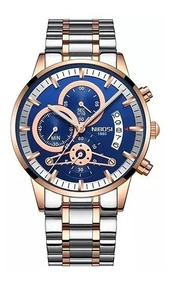 Relógio Nibosi Masculino Prata 2309 Cronógrafo Luxoquartzo