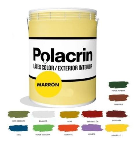 Pintura Interior Exterior Polacrin X1 Litro Marron Cubritiva
