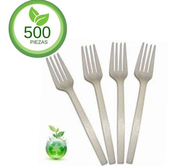 500 Tenedor Biodegradable 16cm