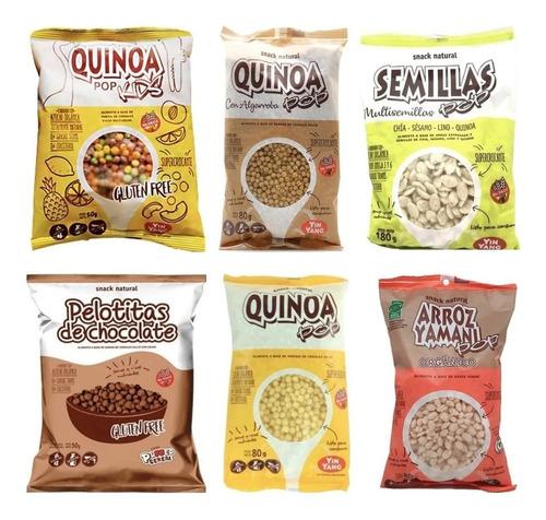 Imagen 1 de 4 de Cereales Pop Yin Yang Sin Tacc Gluten Free Mix Pack X6 -1c/u