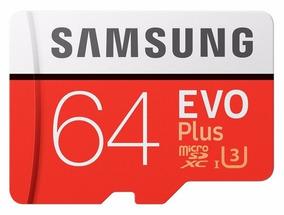 Cartão Memória Samsung Micro Sdxc 64gb 100mb/s Gopro Hero 3