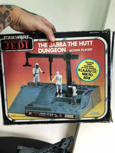 Star Wars Vintage Playset Jabba Dungeon En Caja Con Figuras