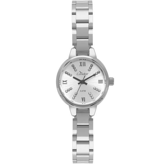 Relógio Condor Feminino Prata Barato Nf Co2035kyh/3k